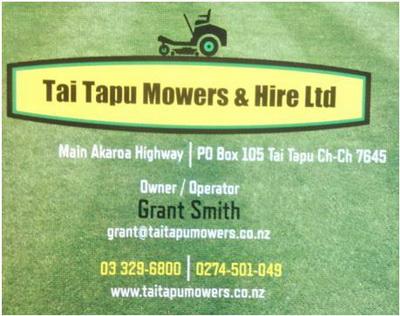 Tai Tapu Mowers